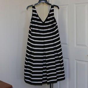Ralph Lauren striped pleated a line dress